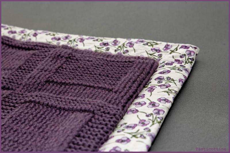 comment coudre tissu sur couverture laine